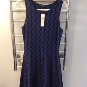 NWT blue and black sleeveless Ann Taylor Dress
